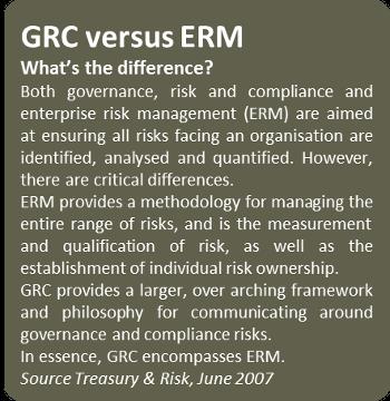 GRC versus ERM